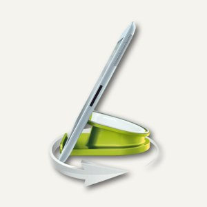 LEITZ Tischständer für iPad/Tablet PC WOW, drehbar, grün-metallic, 6274-10-64