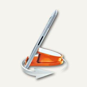 LEITZ Tischständer für iPad/Tablet PC WOW, drehbar, orange-metallic, 6274-10-44