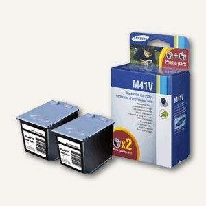 Samsung Tintenpatrone M41, schwarz, 750 Seiten, Doppelpack, INK-M41V/ELS