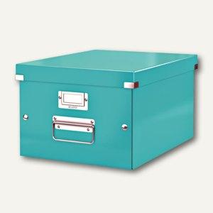 LEITZ Ablagebox Click & Store WOW, DIN A4, eisblau, 6044-00-51