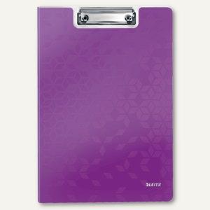 LEITZ Klemmbrett-Mappe WOW, DIN A4, Polyfoam, violett, 4199-00-62