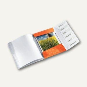Ordnungsmappe WOW, DIN A4, 6 Fächer mit Taben, PP, orange-metallic, 4633-00-44