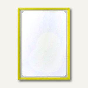 Infotasche mit Ausschnitt, DIN A3, hoch/quer, magnethaftend, gelb, 889702