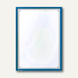 Infotasche mit Ausschnitt, DIN A3, hoch/quer, magnethaftend, blau, 889707