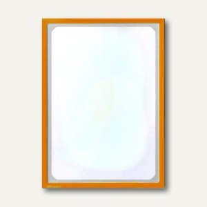 Infotasche mit Ausschnitt, DIN A3, hoch/quer, magnethaftend, pastellorange, 8897