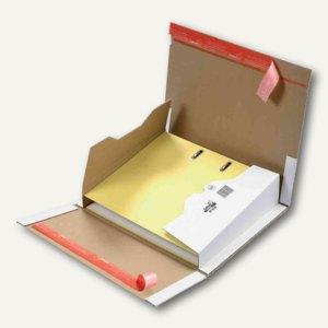 Ordner-Versandkarton DIN A4, 320 x 290 x 35-80 mm, 2 Verschlußstr., braun, 20 St