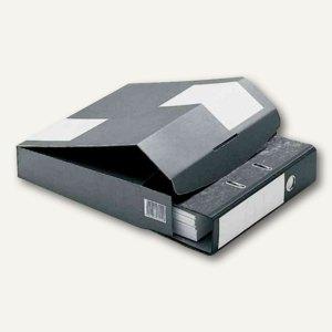 Versandkarton f. schmale Ordner DIN A4, 322x288x80mm, grau, 20St., CP 058.85