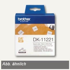 Brother DK Etiketten, CD/DVD-Etiketten, Ø 58 mm, 100 Stück, DK11207