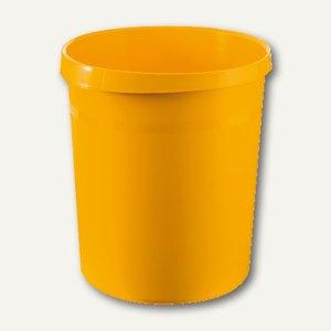 HAN Papierkorb GRIP, 18 Liter, gelb, 18190-15
