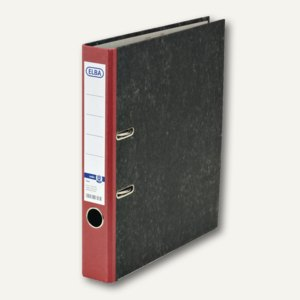 Elba Ordner smart Original - Wolkenmarmor, DIN A4, Rücken 50 mm, rot, 100023245