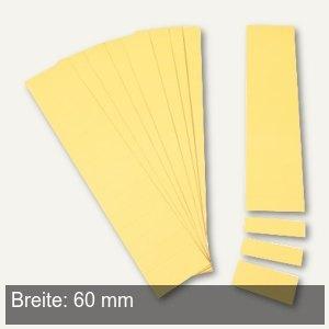 Einsteckkarten für 15.5 mm Magnetschienen, (B)60 x (H)12 mm, gelb, 220 Stück, 84