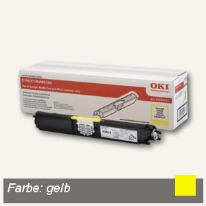 OKI Toner, gelb, 44250721
