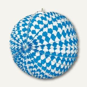 """Lampion """"Bayrisch Blau"""", Papier, Ø 31 cm, schwer entflammbar, 10 Stück, 82809"""