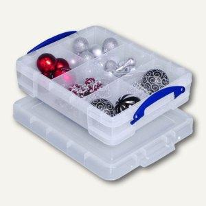 Aufbewahrungsbox, Einsatz, 11 Liter, 450 x 350 x 120mm, transparent, 11C+16TRAY