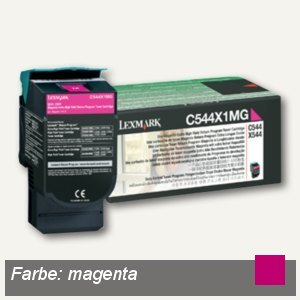 Lexmark Rückgabe-Toner, ca. 4.000 Seiten, magenta, C544X1MG
