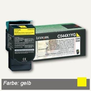 Lexmark Rückgabe-Toner, ca. 4.000 Seiten, gelb, C544X1YG