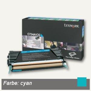 Lexmark Rückgabe-Toner, ca. 6.000 Seiten, cyan, C734A1CG