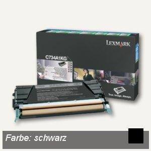 Lexmark Rückgabe-Toner, ca. 8.000 Seiten, schwarz, C734A1KG