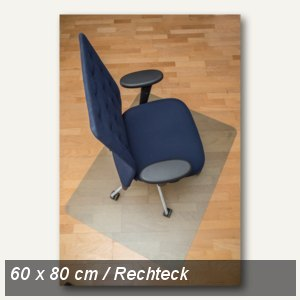 Bodenschutzmatte clear style, Öko-PET, 60x80 cm, Hartböden, natur, 1607