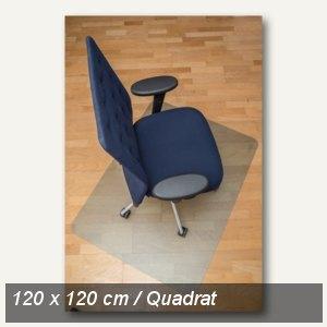 Bodenschutzmatte clear style, Öko-PET, 120x120 cm, Hartböden, natur, 1616