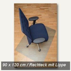 Bodenschutzmatte clear style, PET, 90x120 cm, Lippe, Hartböden, natur, 1680