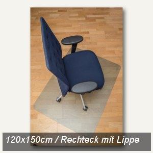 Bodenschutzmatte clear style, 120x150 cm, Lippe, Hartböden, natur, 1681