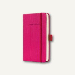 Sigel Notizbuch CONCEPTUM, 95x150 mm (ca.A6), kariert, Hardcover, pink, CO562