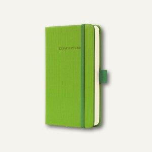 Sigel Notizbuch CONCEPTUM, 95x150 mm (ca.A6), kariert, Hardcover, hellgrün,CO569