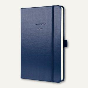 Sigel Wochenkalender CONCEPTUM, 95 x 150 mm (ca. A6), Hardcover, blau, C1769