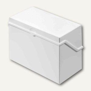 Helit Klein-Karteikasten A6 quer, 165x90x130mm, unbestückt, weiß, H6214605