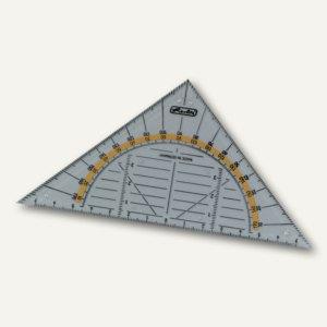 Geometrie-Dreieck klein, Hypotenuse: 14 cm, Kunststoff, transparent, 08700304