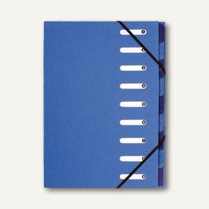 "Exacompta Ordnungsmappe ""Forever"", 9 Fächer, Eckspanner, blau, 6 Stück, 52982E"