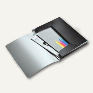 LEITZ Ablagebox Style, DIN A4, Rückenbreite: 30 mm, PP, satin-schwarz,3956-00-94