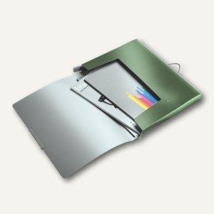 LEITZ Ablagebox Style, DIN A4, Rückenbreite: 30 mm, PP, seladon-grün, 3956-00-53