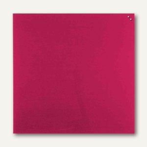 Franken Magnetische Glastafel, Quadrat, 100 x 100 cm, 2 Magnete, rot, GT10010001