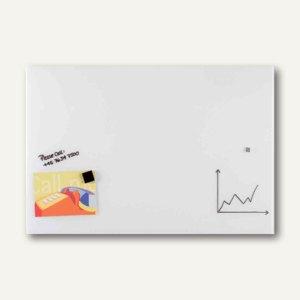 Magnetische Glastafel, Rechteck, 120 x 150 cm, 2 Magnete, weiß, GT15012009