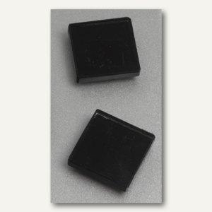 Franken Neodym-Glasmagnete, Quadrat, 25 x 8 x 25 mm, schwarz, 2 Stück, HMGS10