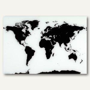 Magnetische Glastafel Weltkarte