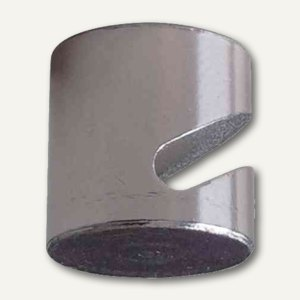 Franken Neodym-Hakenmagnet f. Glastafeln, (Ø) 16 mm, chrom, 4 Stück, HMN16