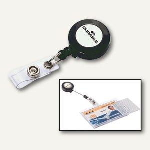 Durable Ausweishalter mit Aufrollmechanismus, anthrazit, 10 Stück, 8152-58