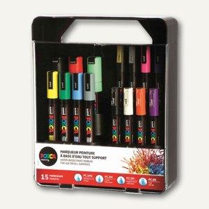Pigmentmarker POSCA im Koffer