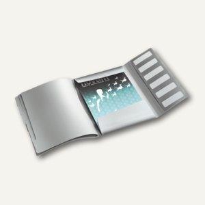 Ordnungsmappe Style, DIN A4, 6 Fächer mit Taben, PP, arktik-weiß, 3995-00-04