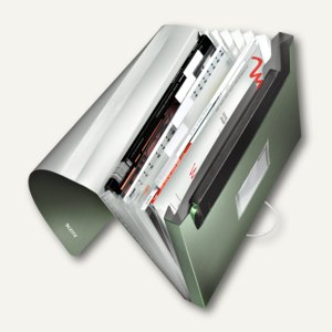 LEITZ Projektmappe Style, DIN A4, 6 Fächer, PP, seladon-grün, 3957-00-53