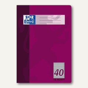 Oxford Heft, DIN A4, Lin. 40 - kariert 5mm + Umrandung, 16 Blatt, 100050320