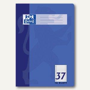 Heft, DIN A4, Lin. 37 - liniert + Rand, perforiert, gelocht, 16 Blatt, 100050317