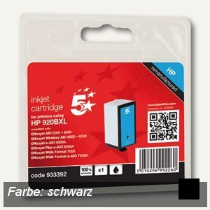 officio Tintenpatrone, ersetzt HP CD975AE, ca. 1.200 Seiten, 40 ml, schwarz
