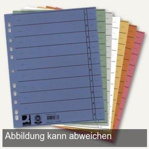 officio Trennblätter DIN A4, 230g/qm, farbig sortiert, 100 Stück, 0815