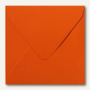 Farbige Briefumschläge, 140x140mm, nasskl., ohne Fenster, orange, 500St.