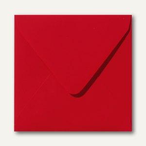 Farbige Briefumschläge, 160x160mm, nasskl., ohne Fenster, rot, 500St.