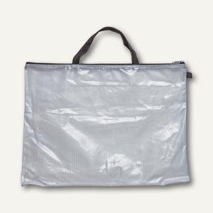 Mesh Bag Reißverschlusstasche DIN A3, Tragegriffe, transparent, 10 Stück, 378713